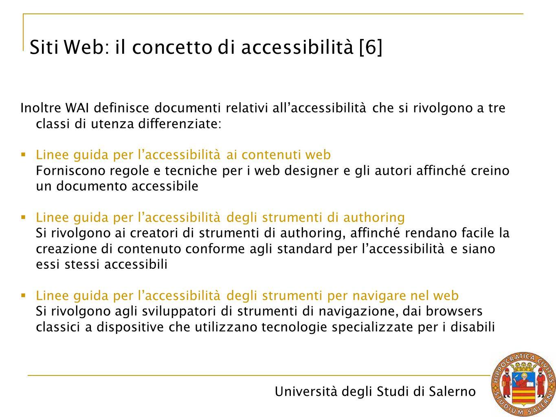 Siti Web: il concetto di accessibilità [6]